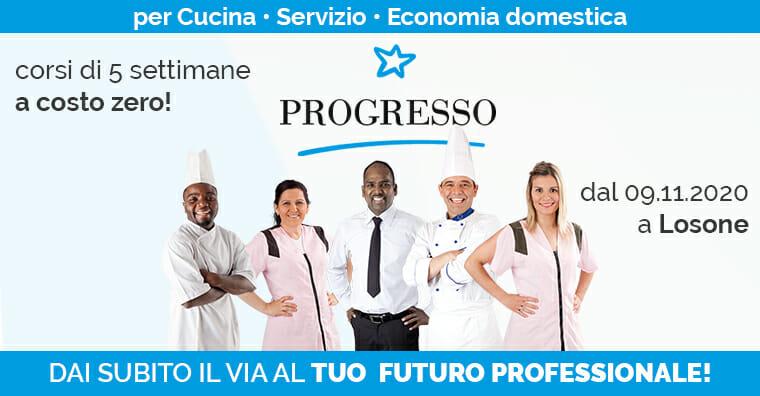 Resoconto corsi Progresso per ristorazione e albergheria 2020